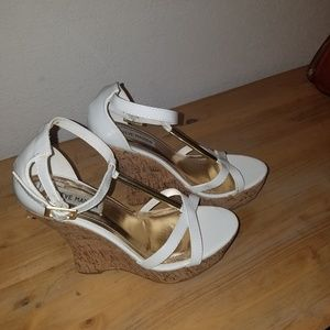 Steve Madden wedge sandals.